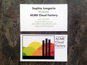 ACME Cloud Factory Business Cards